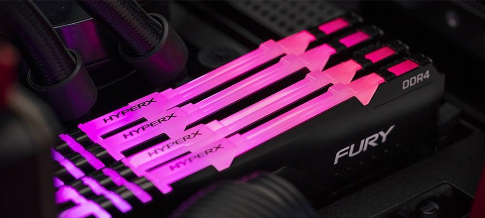 Оперативная память Kingston HyperX Fury обзавелась RGB-подсветкой