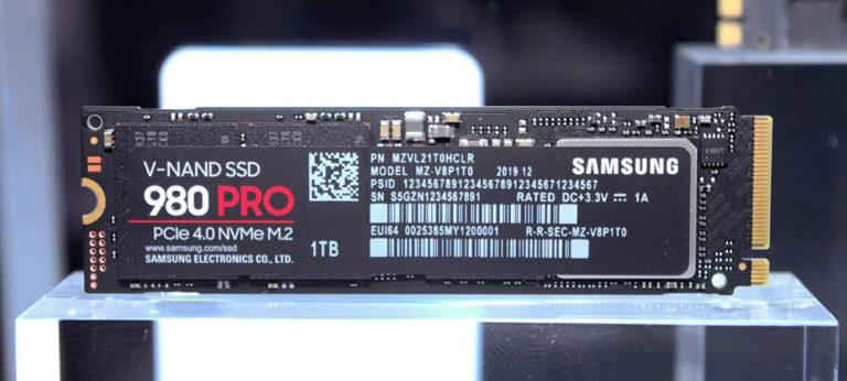 Анонсирован NVMe SSD Samsung 980 Pro со скоростью до 6.5 ГБ/с