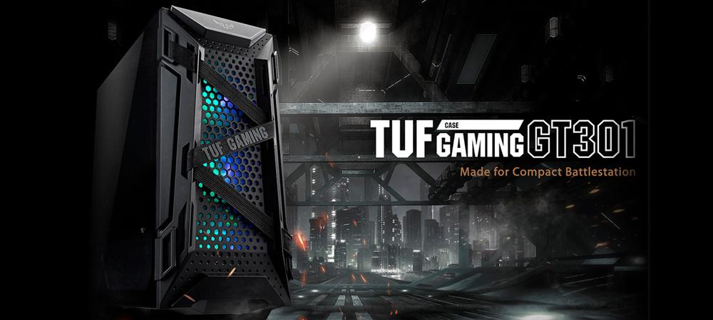Корпус ASUS TUF Gaming GT301 выполнен в оригинальном дизайне