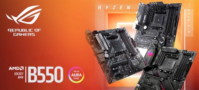 ASUS представила материнские платы на основе логики AMD B550