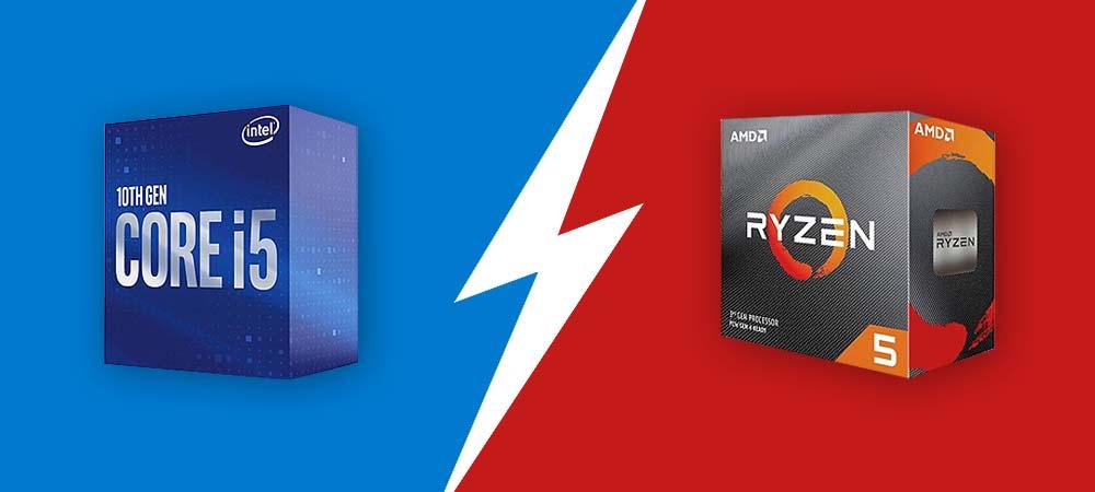 Сравнение новых народных процессоров Intel Core i5-10400F и AMD Ryzen 5 3600