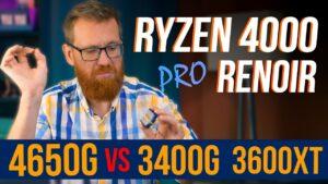 Сравнение процессоров AMD Ryzen 5 Pro 4650G, Ryzen 5 3600XT и Ryzen 5 3400G