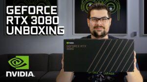 Официальная распаковка видеокарты NVIDIA GeForce RTX 3080