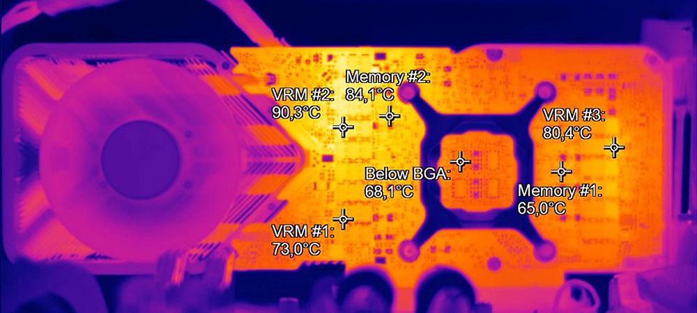 Память видеокарты GeForce RTX 3080 нагревается свыше 100°С в играх