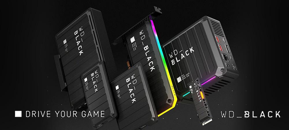 Western Digital представила игровые накопители серии WD_Black