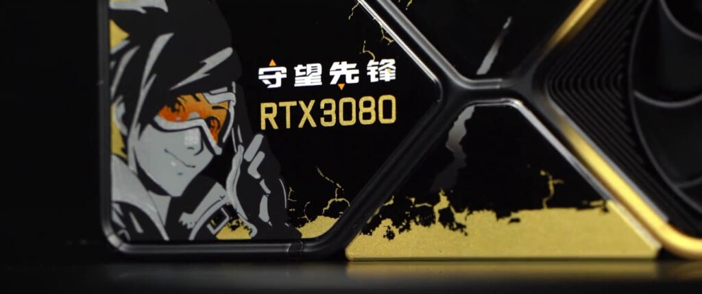 NVIDIA показала кастомную видеокарту GeForce RTX 3080 в стиле игры Overwatch