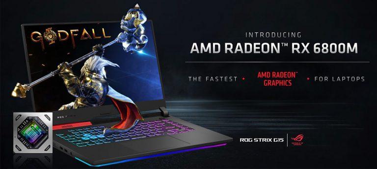 AMD анонсировала серию мобильных видеокарт Radeon RX 6000M на архитектуре RDNA2
