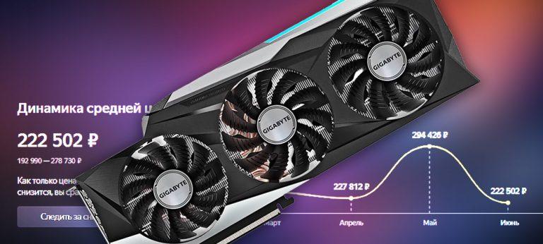 Цены на видеокарты GeForce RTX 3000 упали до 25%, а их наличие в магазинах постепенно растёт