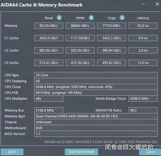 Оперативная память DDR5-6400 достигает скорости чтения в 90 ГБ/с при задержке в 92 нс