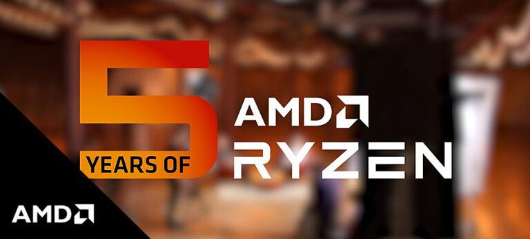 AMD празднует 5-летие процессоров Ryzen и архитектуры Zen, изменивших всё
