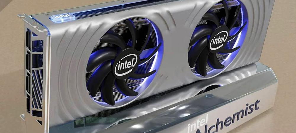 Показан эталонный дизайн флагманской видеокарты Intel Arc Alchemist нового поколения